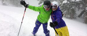 happy backcountry ski chicks
