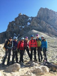 Alpine climbing with Chicks