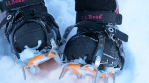 What not to wear, a front strap crampon.