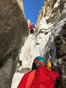 Women Ice Climbing Cody Wyoming