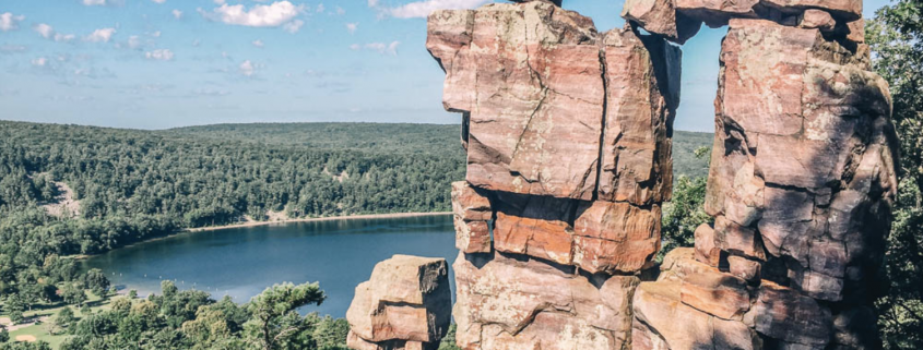 devils lake womens rock climbing