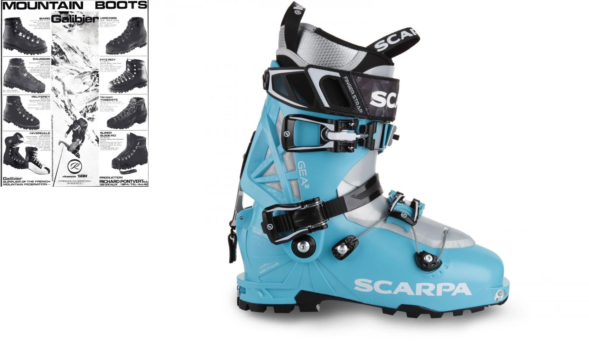 Galibier Mountain Boots and Scarpa Gea Alpine Touring Boots