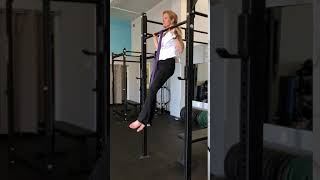 Pull-ups for beginners. Carolyn Parker, co-founder of Ripple Effect Training and AMGA Rock Guide, demonstrates good pull-up form.